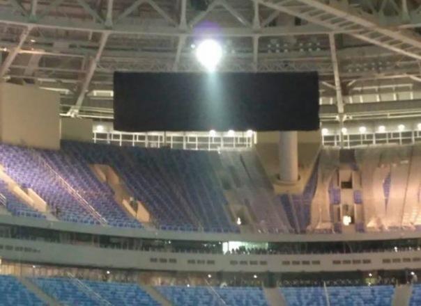 На новом стадионе Зенита успешно протестировали табло