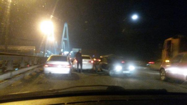 Массовое ДТП в Петербурге: на КАД столкнулись пять машин