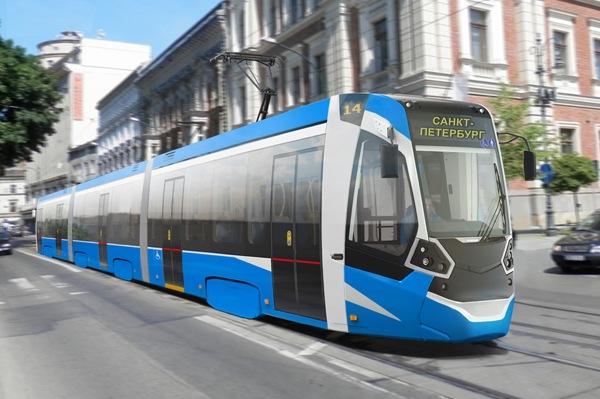 Укладке рельсов для скоростного трамвая в Петербурге помешала зима