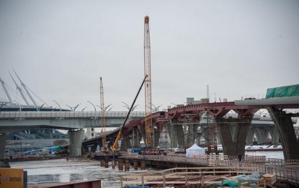 Яхтенный мост на Крестовский остров в Петербурге откроют ко Дню города