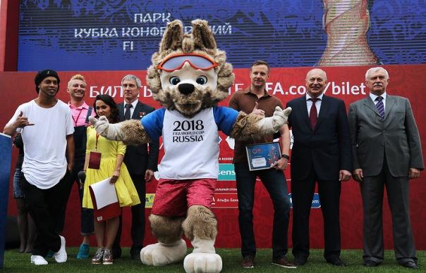Парк Кубка конфедераций открылся в Петербурге на Конюшенной площади