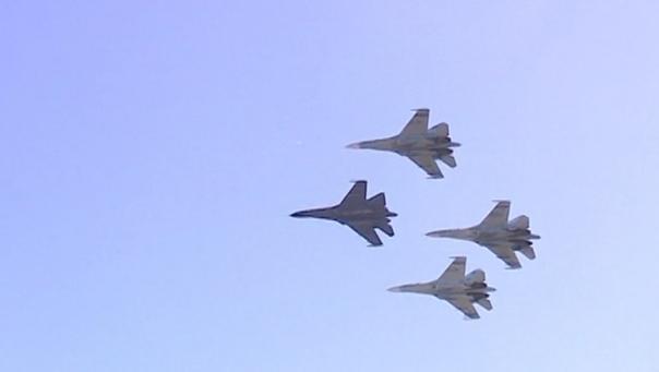 В Пушкине в авиашоу приняли участие 30 самолетов и вертолетов