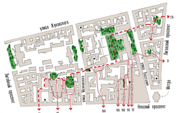 Проходной двор: петербурженка составляет сквозные маршруты по тайным красотам города